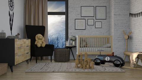 black and natural nursery - Kids room  - by miadesign