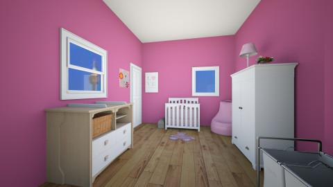 Pink Nursery - Glamour - Kids room  - by brookiebrooke37