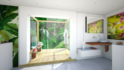 Bathroom in the rainforest 8_2 - Modern - Bathroom  - by Hajnalka978