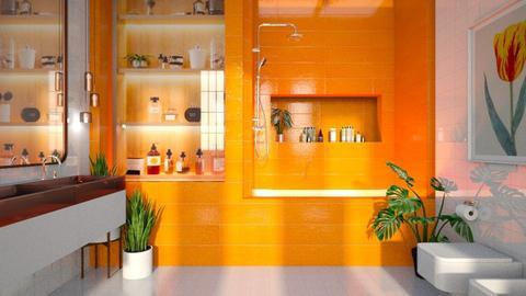 Orange - Bathroom  - by diegobbf