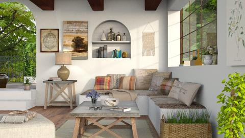 Rustic 2 - Rustic - Living room  - by Sally Simpson