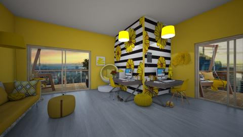 Yellow Office - Modern - Office  - by Itsavannah