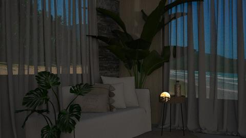 summer  night - Living room  - by iope