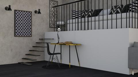 student loft  - Modern - by NEVERQUITDESIGNIT