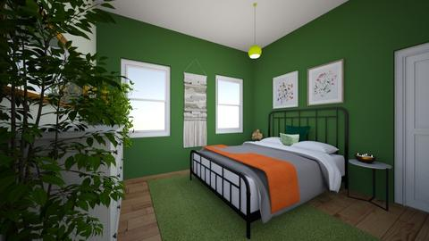 green - Bedroom  - by bethnay A