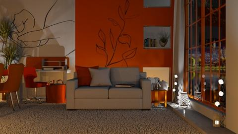 OW Apartment At Night - Living room  - by KittyT6
