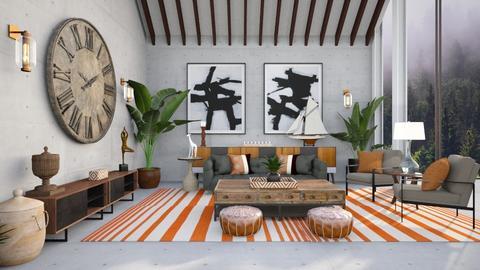 Rustic room - Living room  - by hmm22