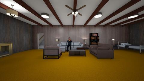 Basement Room - Living room  - by WestVirginiaRebel