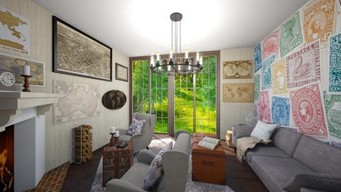 Travel - Vintage - Living room  - by AmeliaGrangerWeasley