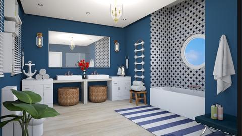 Nautical Bathroom - Bathroom  - by islandvibz