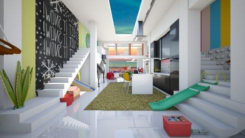 playfull apartment - Modern - Kitchen  - by Evangeline_The_Unicorn