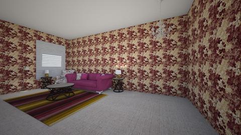 purple living room - Living room  - by amonibrown