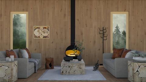 snug cabin - Rustic - Living room  - by moomusr
