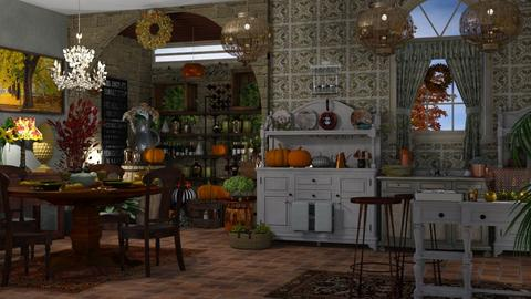 autumn kitchen - Kitchen  - by nat mi