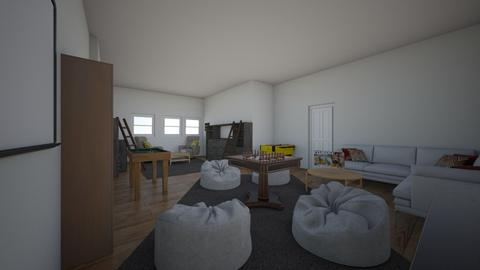 Rec Room And Cozy Library - Rustic - by moode4250