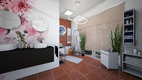 Cherry Blossom Bathroom - Bathroom  - by iraa