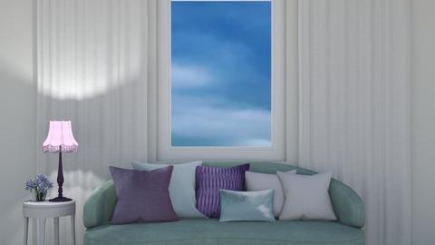 light blue and purple - Living room  - by DarcieM88