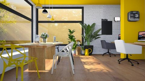 yellow workspace - Office  - by miadesign