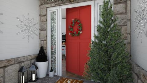 Christmas Front Porch - Garden  - by zozan