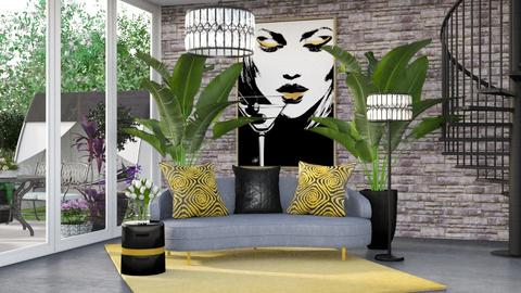 Black Gold - Living room  - by DecoGracia
