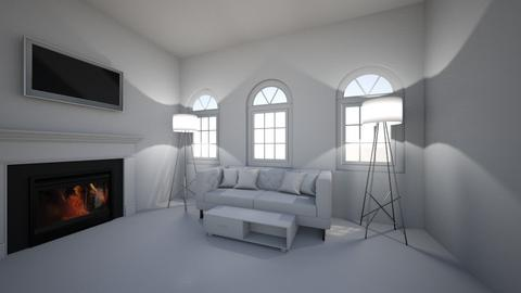 White for fangirldesigner - Living room  - by Hamzah luvs cats