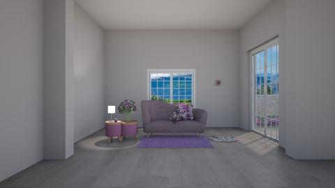 purple - Living room - by joanneonline