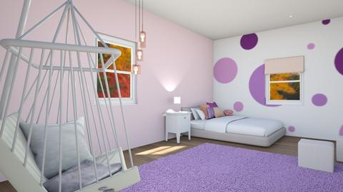 Purple and Pink - Bedroom  - by Taehyungie