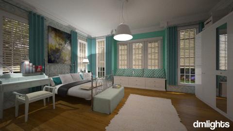 Verde agua - Bedroom  - by Roberta Bela