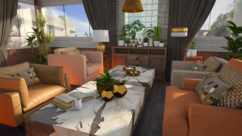 Laguna Coffee Lounge - Eclectic - Living room  - by Brenda DeVries