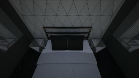 black and silver - Minimal - Bedroom - by newyork4everloved