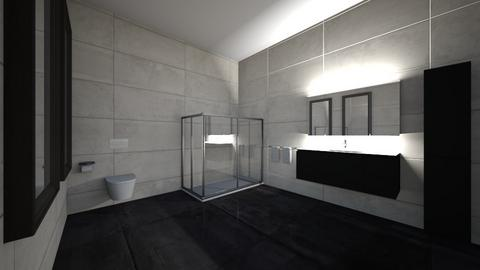 Black Bathroom_Home 1 - Modern - Bathroom  - by Itsjustme1