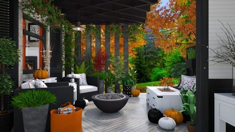 Patio in the Autumn - Garden  - by Amyz625