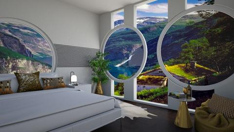 bedroom in the mountains - by ilcsi1860