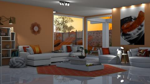 orange white apartment - by nat mi