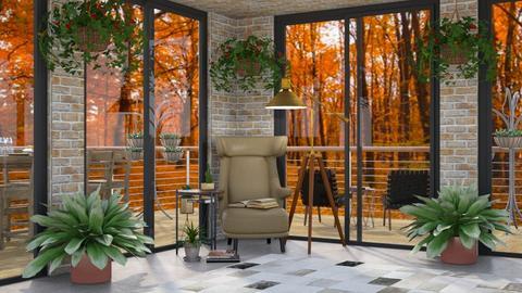 Autumn Reading Corner - Rustic - Living room  - by millerfam