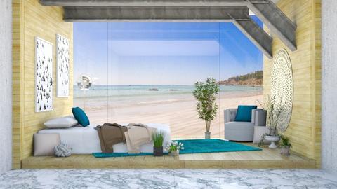 Beach Glass Wall - Modern - Bedroom  - by millerfam