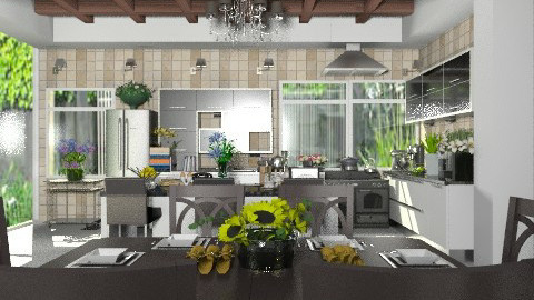 Countryside Modern Kitchen - Modern - Kitchen  - by Your well wisher