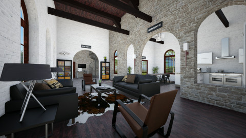 Cathedral Living - Eclectic - Living room  - by kingjackie51