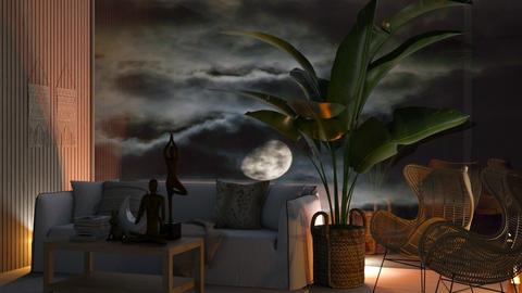 Bohemian at night - Living room  - by Max30