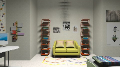 Artists bedroom - Retro - Bedroom  - by najahqamar