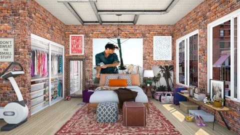 A Loft Bedroom for Her in NYC - Modern - Bedroom - by creativediva