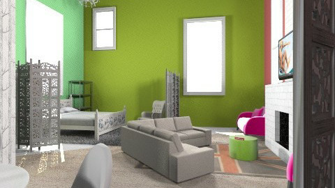 living room of color - Glamour - Living room  - by hunter313