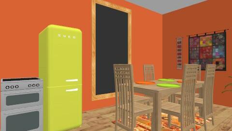 Tropical resport - Rustic - Living room - by Ellie Lee
