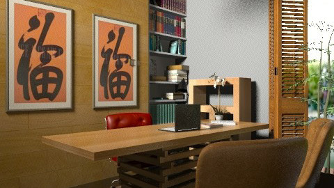 Brow. Office - Vintage - Office  - by sahfs