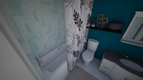 UPSTAIRS BATH IN TEAL - Bathroom - by FLIPCRESTED
