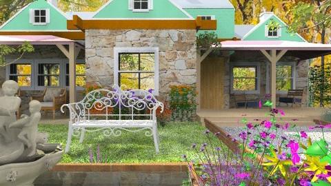 Quebec Country House - Rustic - Garden  - by nk associates