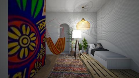 Boho Bedroom - Retro - Bedroom  - by kiwimelon711