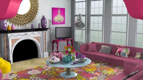 EccentricityInPink - Eclectic - Living room  - by camilla_saurus