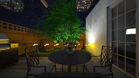 terrace night - Garden  - by lovasemoke