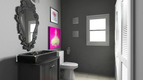 Jenn Torosian Powder Room - Eclectic - Bathroom  - by drapoel